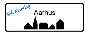 Blå Mandag Aarhus, byskilt