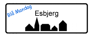 Blå Mandag Esbjerg, byskilt