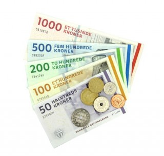 Pengesedler og mønter