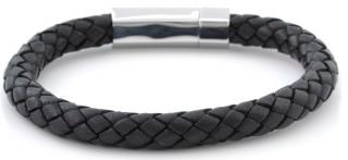 Armbaand i sort læder