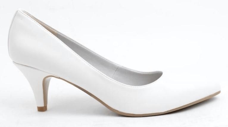 Semihøje hvide hæle